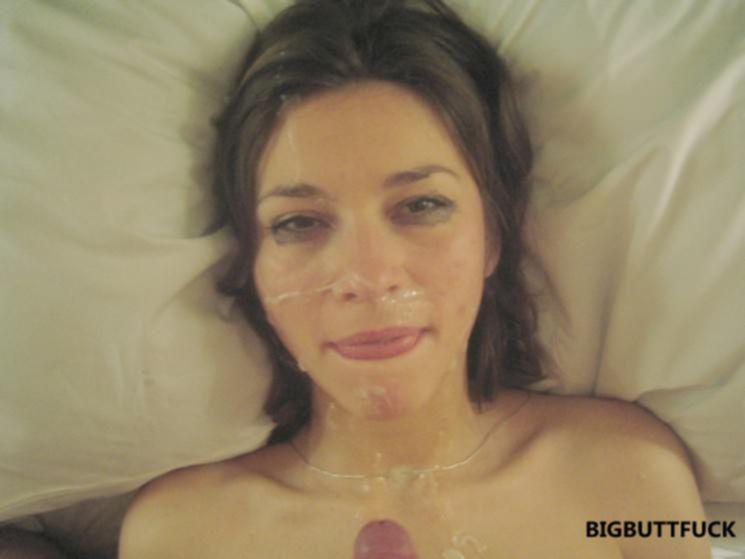 Фото подборка со спермой на лицо развратным давалкам